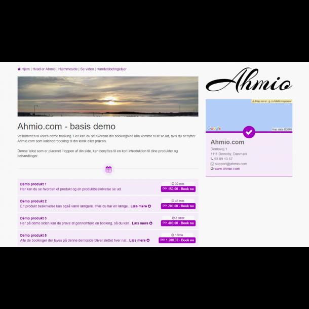 Ahmio Booking system